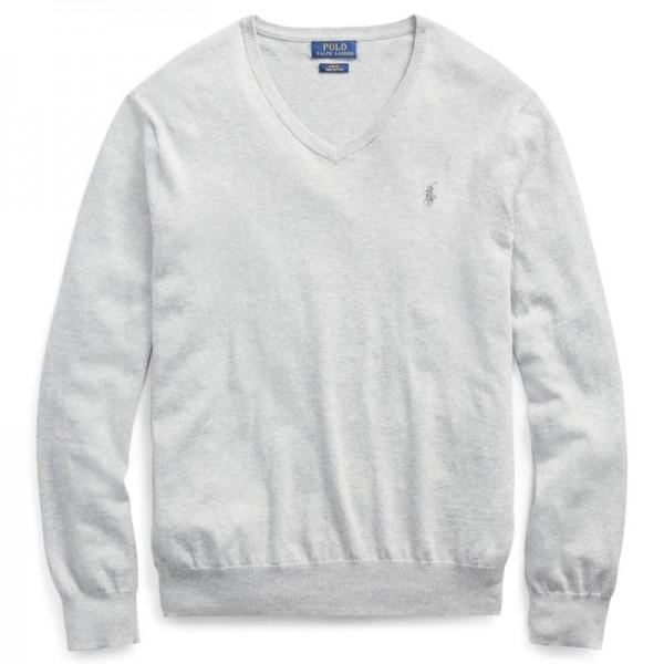 Ralph Lauren Slim Fit Pima Cotton Sweater Andover Heather