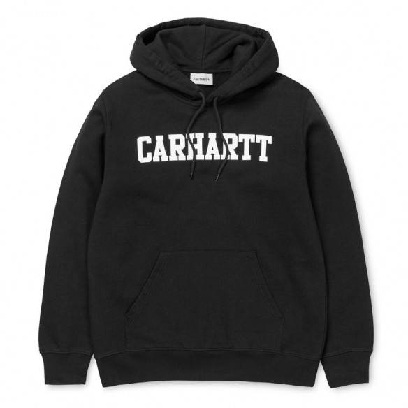 Carhartt Hooded College Sweatshirt Black White