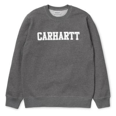 Carhartt College Sweatshirt Dark Grey Heather White