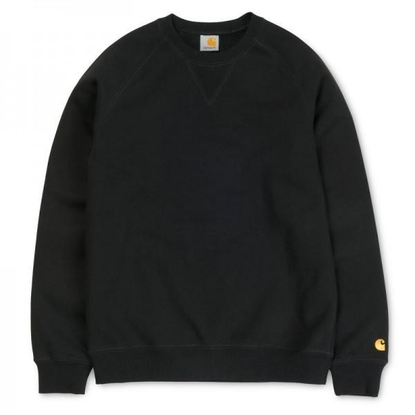 Carhartt Sweatshirt Chase Black Gold