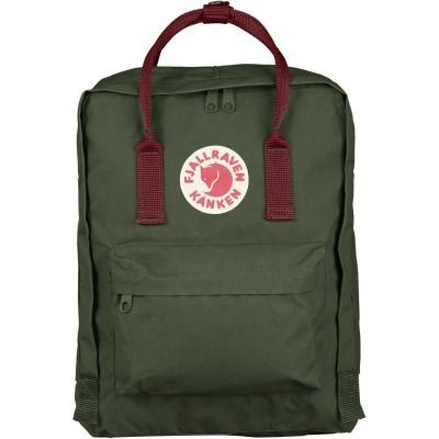 Fjällräven Mochila Kanken Forest Green Ox Red