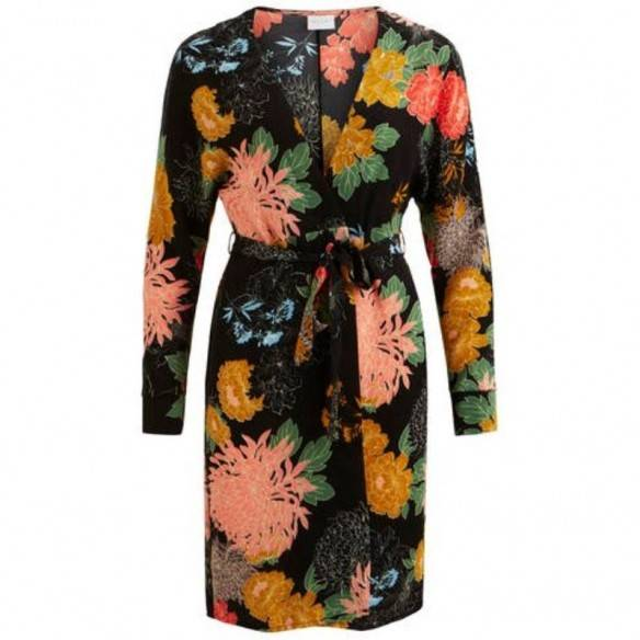Vila Balonia Dress Black Flower Print