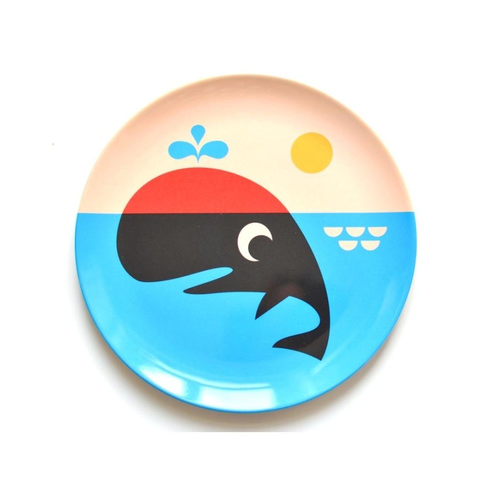 Omm Design Plate Whale