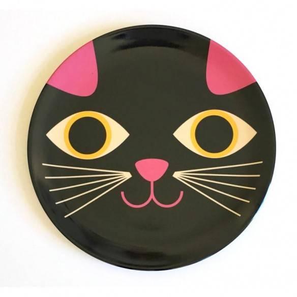 Omm Design Plate Cat Face