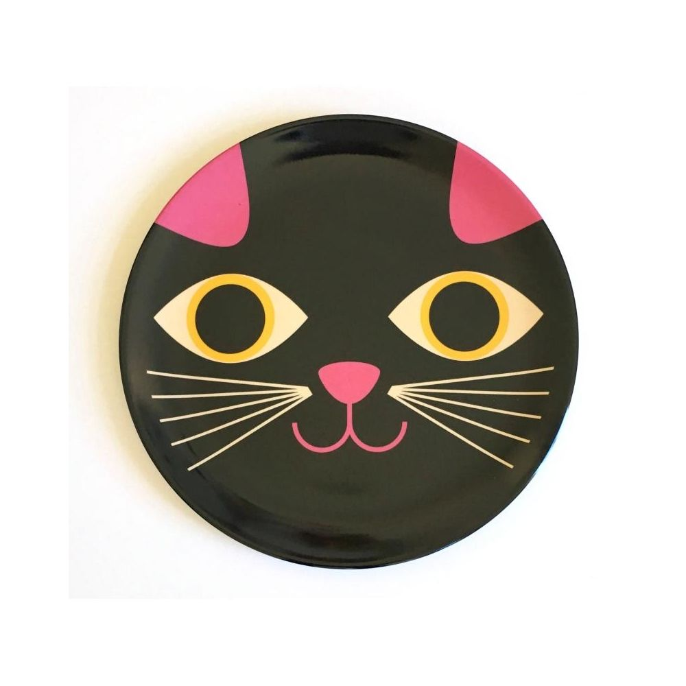 Omm Design Plate Cat Face