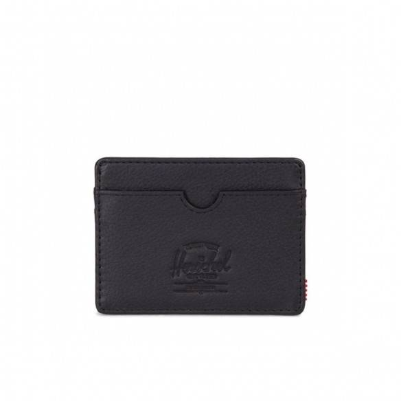 Herschel Wallet Charlie + Black Pebble Leather