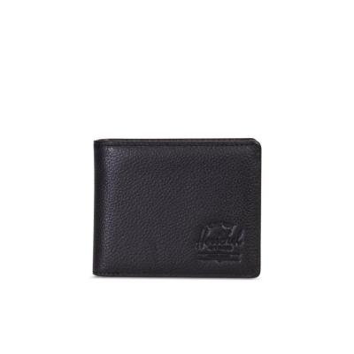 Herschel Wallet Hank + Coin Black Pebble Leather