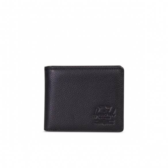 Herschel Wallet Hank + Coin Black Pebble Leather