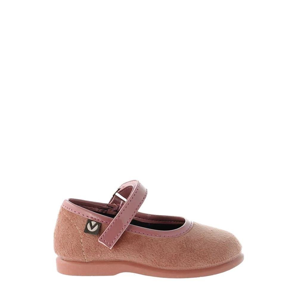 Victoria Velvet Velcro Mary Jane 2752 Baby Rosa