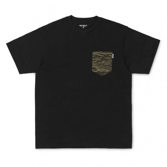 Carhartt Lester Pocket T-Shirt Black Camo
