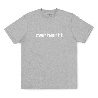 Carhartt Script T-Shirt Grey Heather