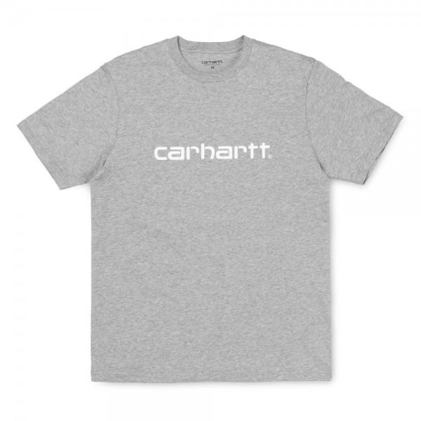 Carhartt Script T-Shirt Grey Heather