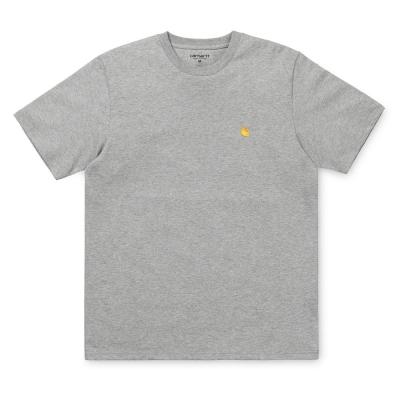 Carhartt Chase T-Shirt Grey Heather Gold