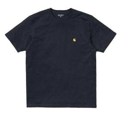 Carhartt Chase T-Shirt Dark Navy Gold