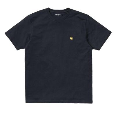 Carhartt Chase T-Shirt Dark Navy Gold