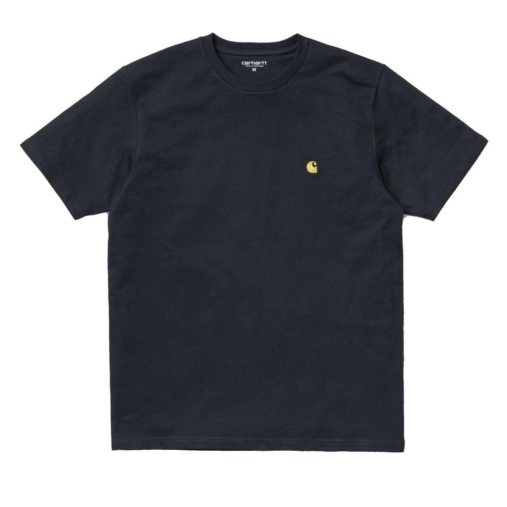 Carhartt T-Shirt Chase Dark Navy Gold