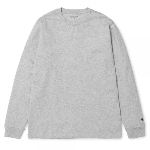 Carhartt LS Base T-Shirt Grey Heather Black
