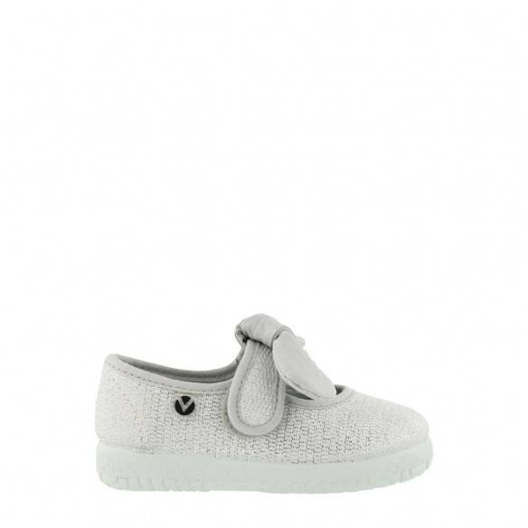 Victoria Mary Jane Lurex 051101 Kids Plata