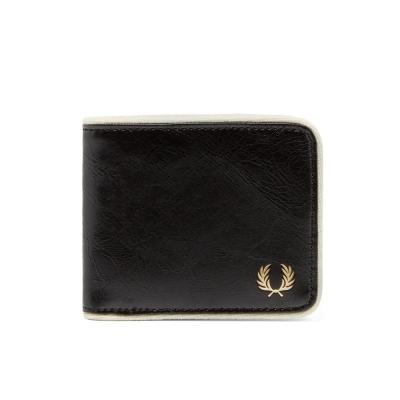 Fred Perry Classic Bifold Wallet Black Ecru