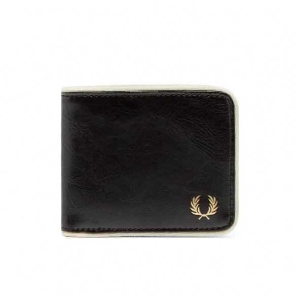 Fred Perry Classic Bifold Wallet Black Ecru