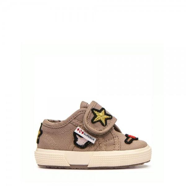 Superga Baby Cotpatchbstrap White Rainbow-Hearts