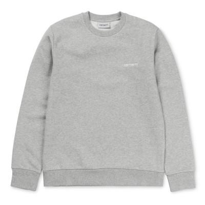 Carhartt Script Embroidery Sweatshirt Grey Heather