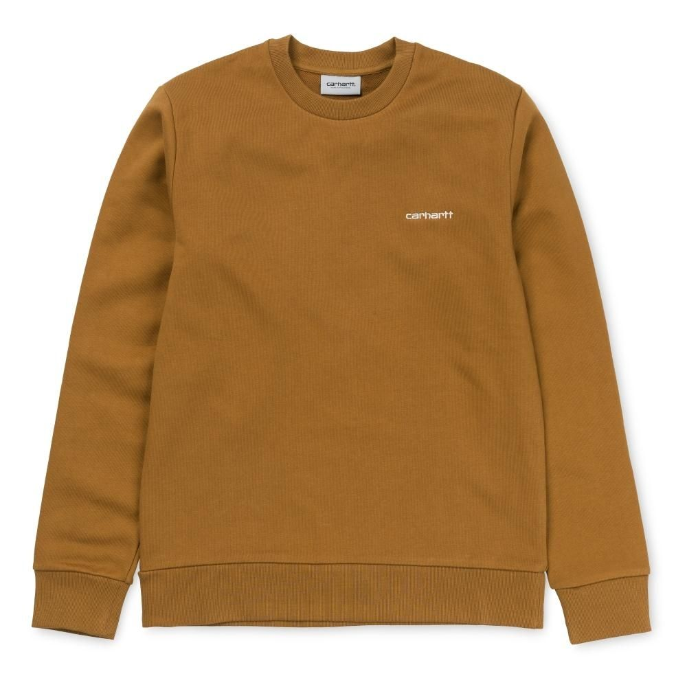 Carhartt Script Embroidery Sweatshirt Hamilton Brown