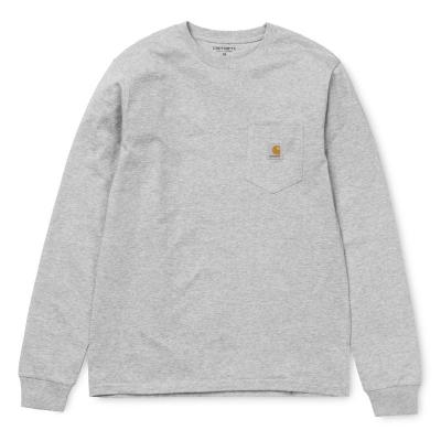 Carhartt LS Pocket T-Shirt Grey Heather