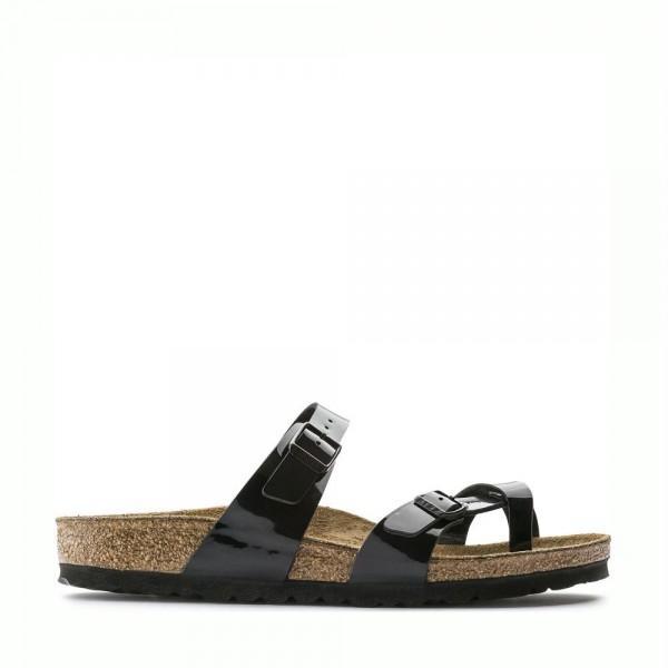 Italina Comfort Sandals-6857-Black-Memory Foam Pillow top Footbed-Light Weight