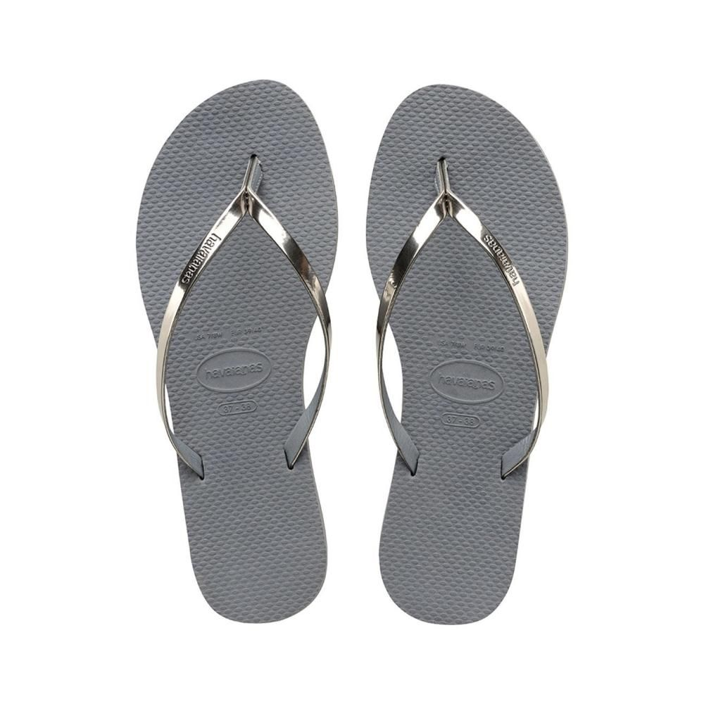 08ae8ebedebf5 Havaianas You Metallic Sand Grey - Mau Feitio
