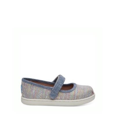 TOMS Baby Mary Jane Pink Multi Twill