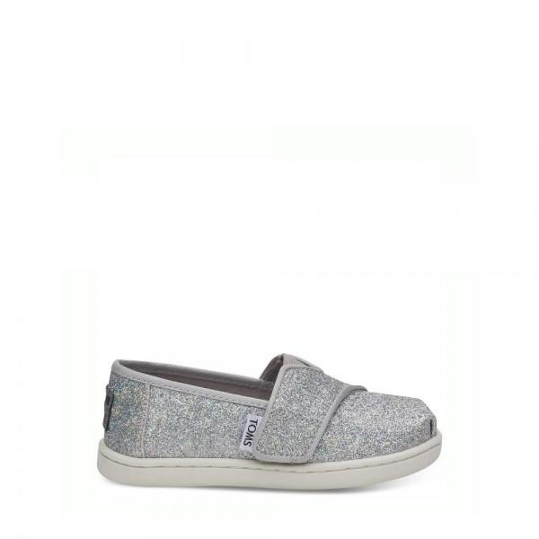 TOMS Baby Classic Silver Iridescent