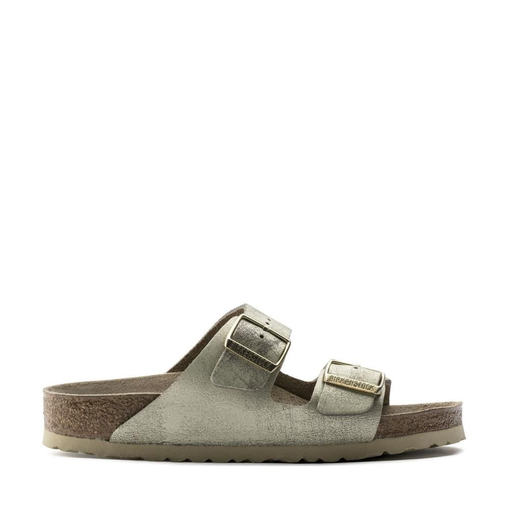 Birkenstock Arizona 1008798 Washed Metallic Cream