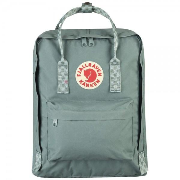Fjällräven Kanken Frost Green-Chess Pattern