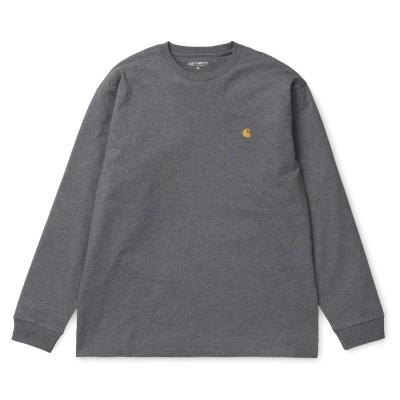 Carhartt LS Chase T-Shirt Dark Grey Heather Gold