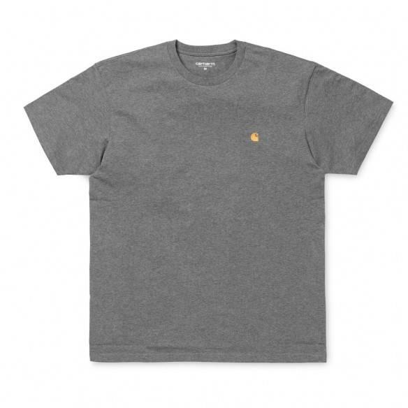 Carhartt T-Shirt Chase Dark Grey Heather Gold