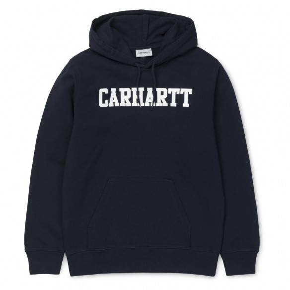 Carhartt Hooded College Sweatshirt Dark Navy White