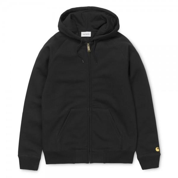 Carhartt Hooded Chase Jacket Black Gold
