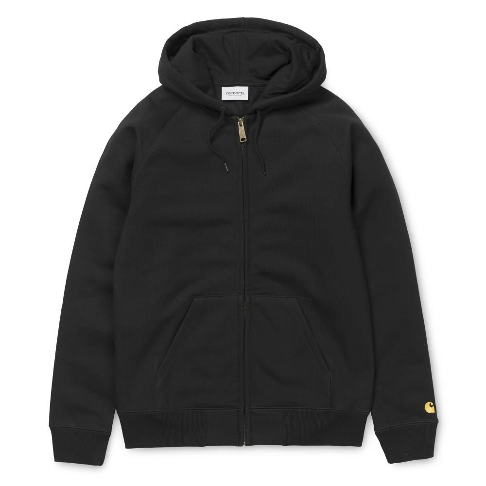 Carhartt Casaco Hooded Chase Black Gold