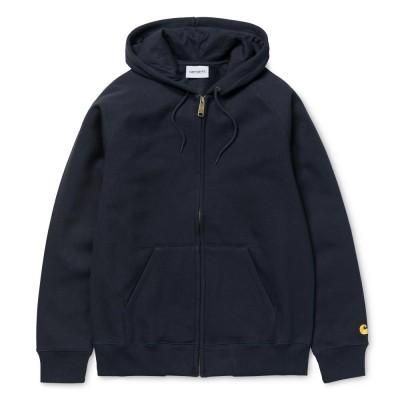 Carhartt Casaco Hooded Chase Dark Navy Gold