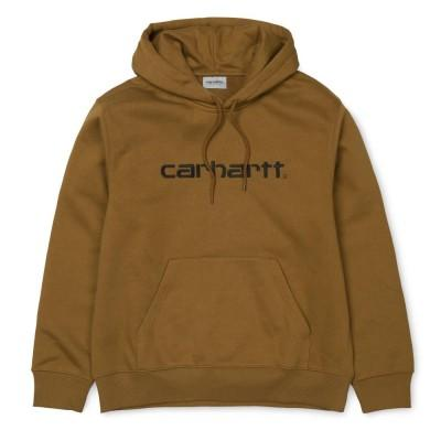 Carhartt Hooded Sweatshirt Hamilton Brown Black