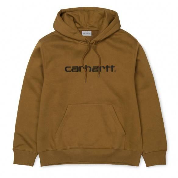 Carhartt Hooded Sweatshirt Hamilton Brown Black
