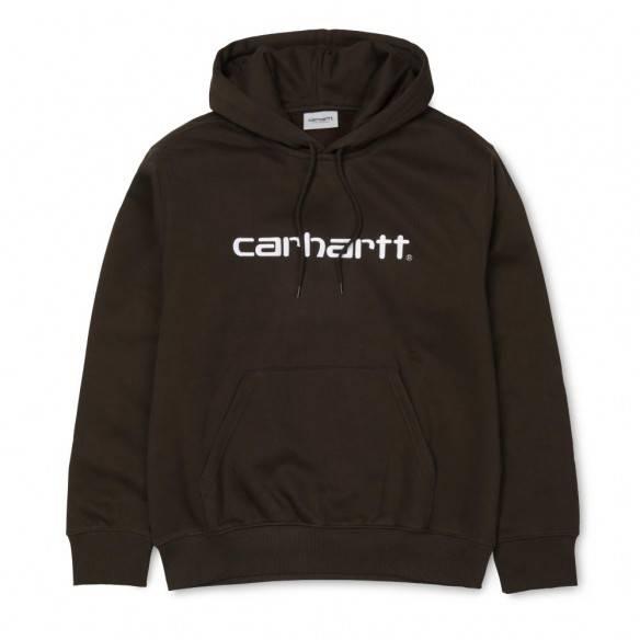 Carhartt Hooded Sweatshirt Tobacco White