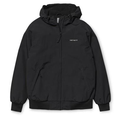 Carhartt Casaco Hooded Sail Black White