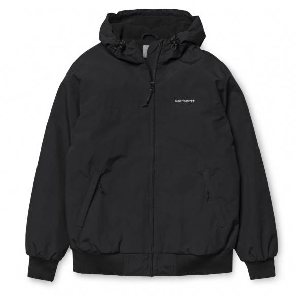 Carhartt Hooded Sail Jacket Black White