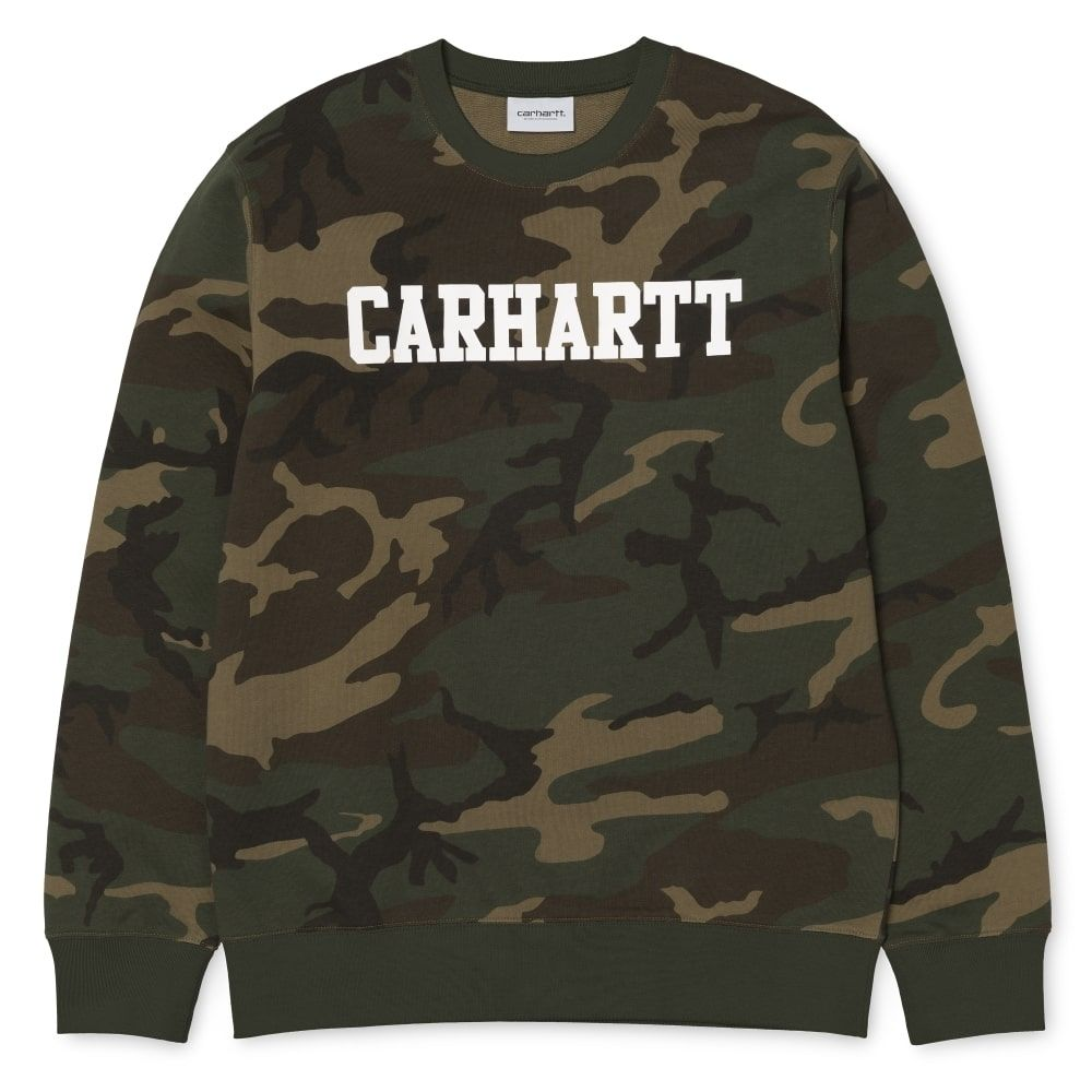 Carhartt College Sweatshirt Camo Laurel