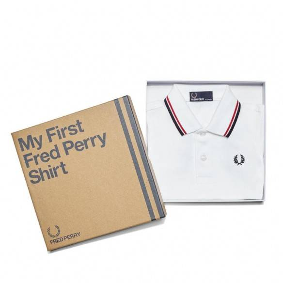 My First Fred Perry Shirt White