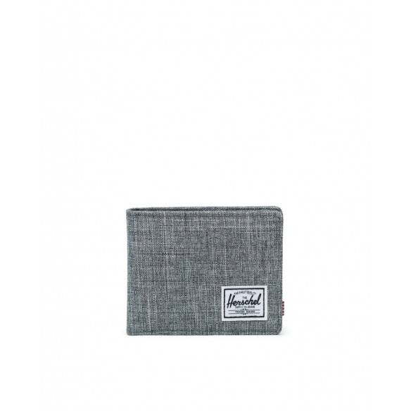Herschel Wallet Roy+Coin Raven Crosshatch