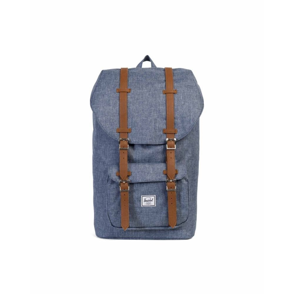 Herschel Mochila Little America Dark Chambray Crosshatch