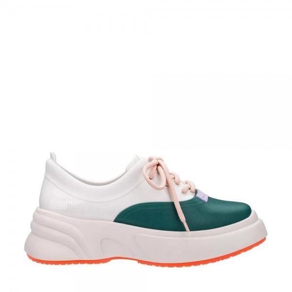 Melissa Ugly Sneaker Beige White Green - Mau Feitio 84faf7bc805